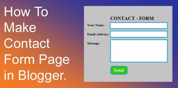 Blogger में Contact Us Page कैसे बनाये बिल्कुल आसान तरीके से