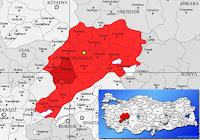 Sandıklı ilçesinin nerede olduğunu gösteren harita
