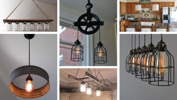 Ιδέες για DIY φωτιστικά κουζίνας