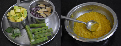 ingredients for mango sambar