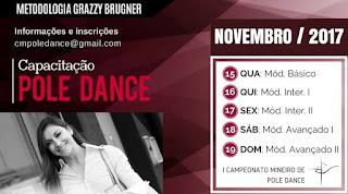 Campeonato mineiro de Pole Dance com Grazzy Brugner