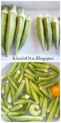 zeytinyağlı, bamya, tarifi, sebze, kişniş otu, nefis, yemek, vejetaryen, glütensiz