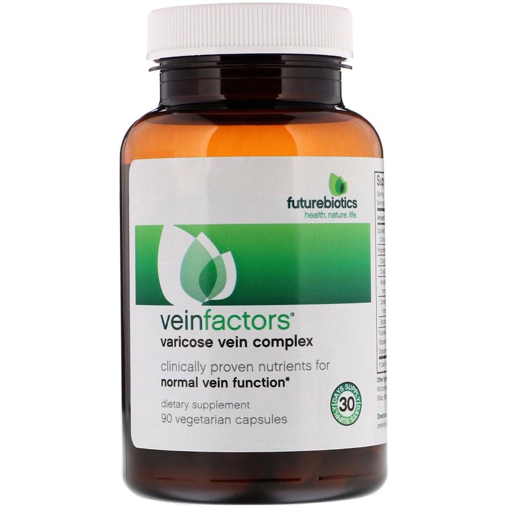 FutureBiotics, VeinFactors, противоварикозный комплекс, 90 вегетарианских капсул