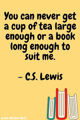 quote about tea and reading