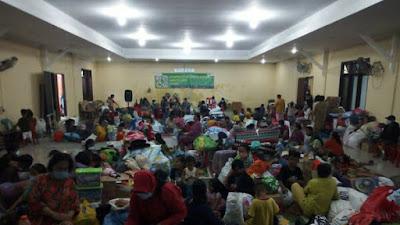 H+3 Banjir Terjang Medan, Warga Masih Bertahan di Posko Pengungsian