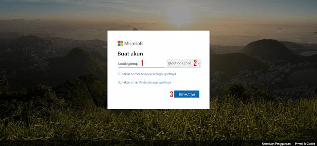 Cara Mendaftarkan Email Microsoft Terbaru Gratis