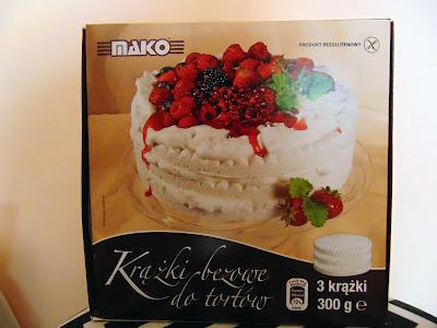 Szybki tort z Krążkami bezowymi to tortów Mako Rogowo