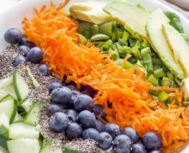 December Detox Salad #healthy #vegetables