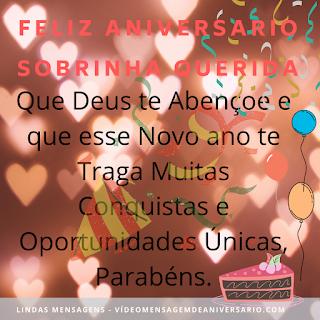 Sobrinha, Sobrinho, Mensagem de aniversário para Sobrinha (o) Feliz Aniversário a Melhor para Sobrinha de 2020