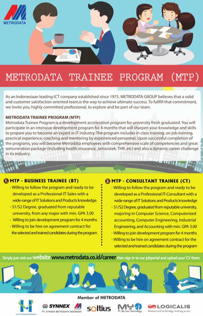 Lowongan Kerja Metrodata Trainee Program PT Metrodata Electronics Tbk
