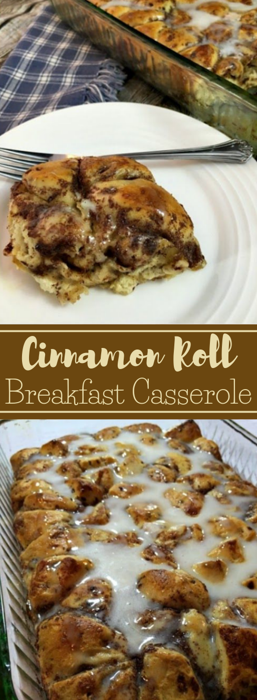 EASY CINNAMON ROLL BREAKFAST CASSEROLE #diet #healthy  #breakfast #easy #paleo