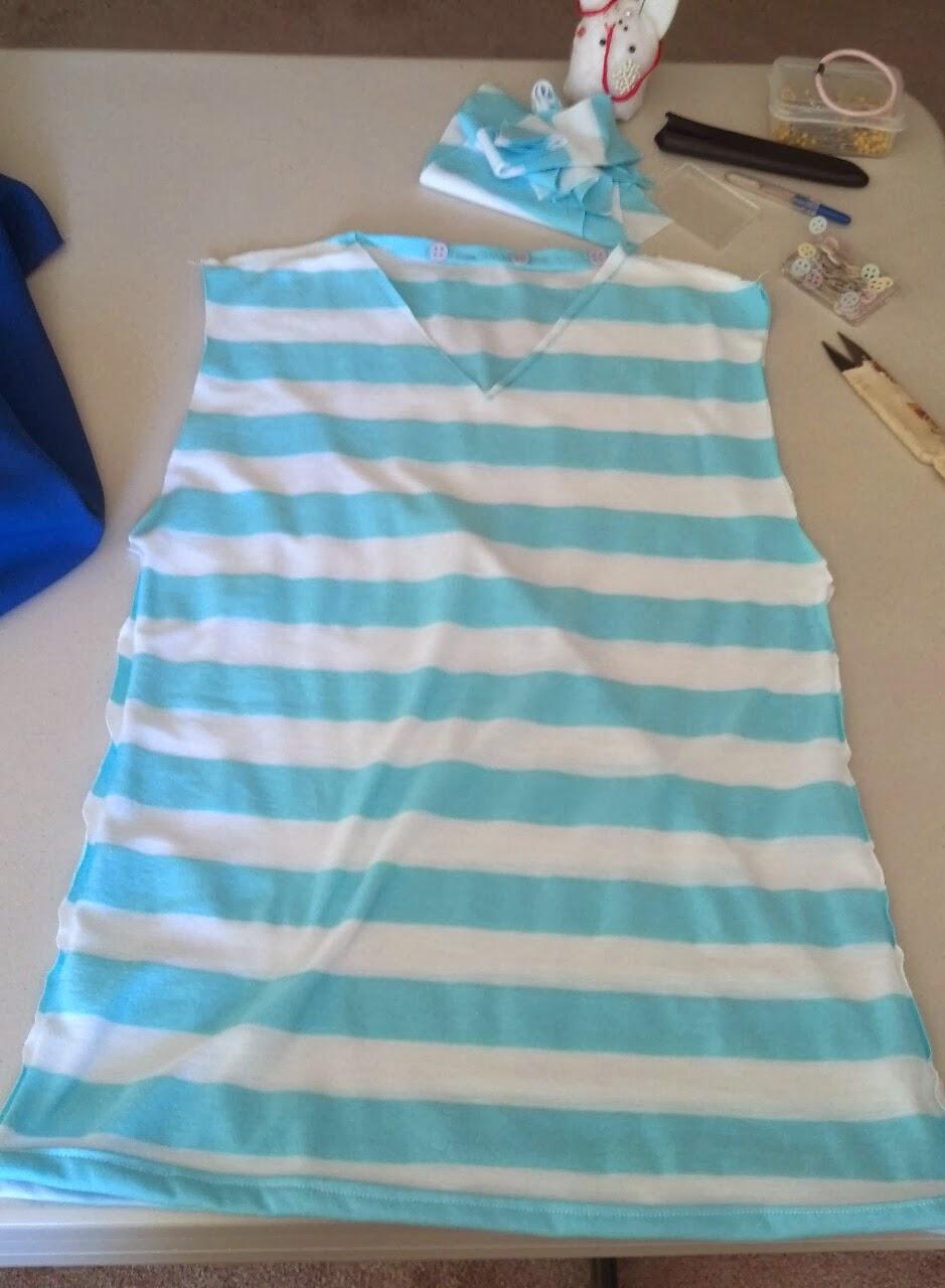Lunagareboshi Cosplay Rin Matsuoka Blue And White Stripe