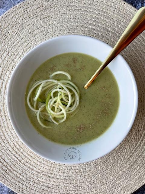 Velouté courgettes-menthe - soupe - Recette facile - IG bas