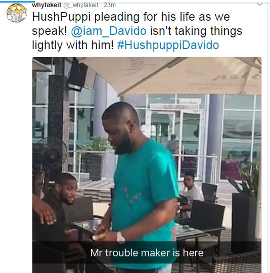 "Twitter user claims Hushpuppi is currently begging Davido ""for his life"""