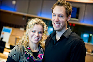Kim Clijsters And Brian Lynch At The European Parliament