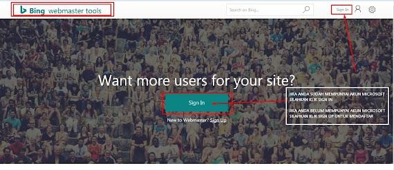 Tutorial Cara Daftar & Verifikasi Blog Anda di Bing Webmaster Tools