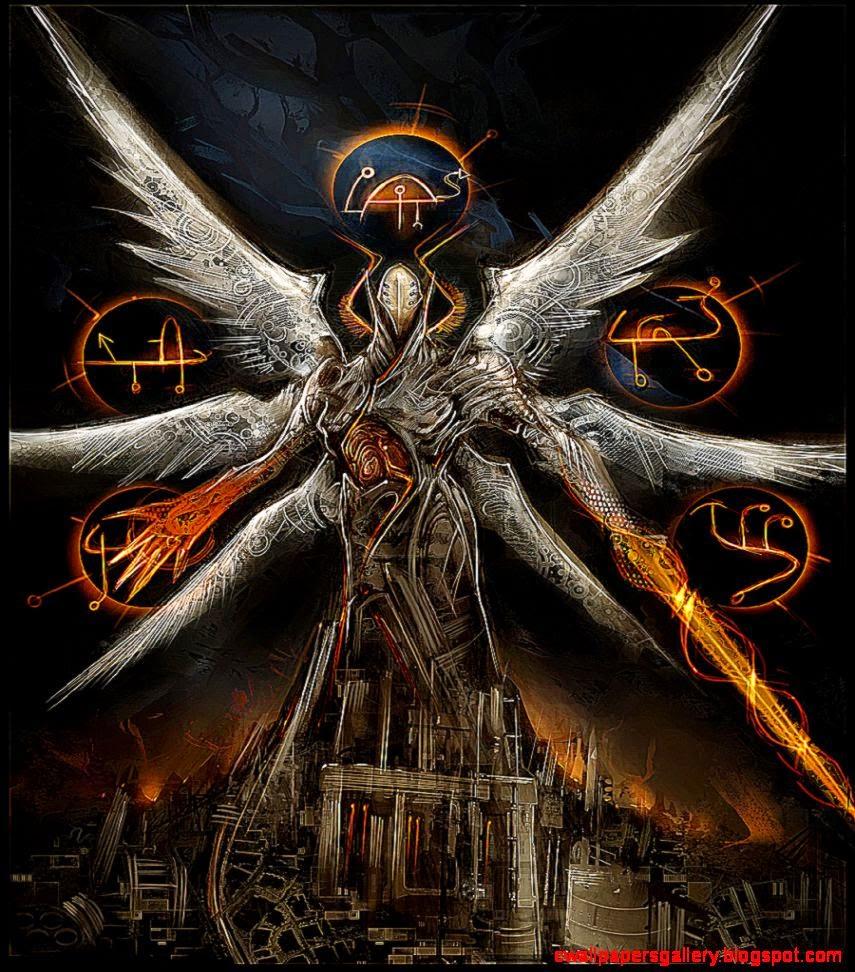 Fantasy Skull Angel Wings Artwork By Android Jones