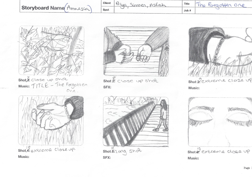 asfah AS media: Research & Planning: Storyboard