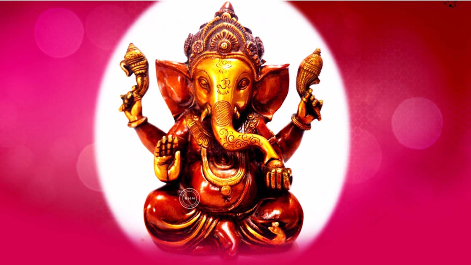 Ganpati wallpaper in pink background