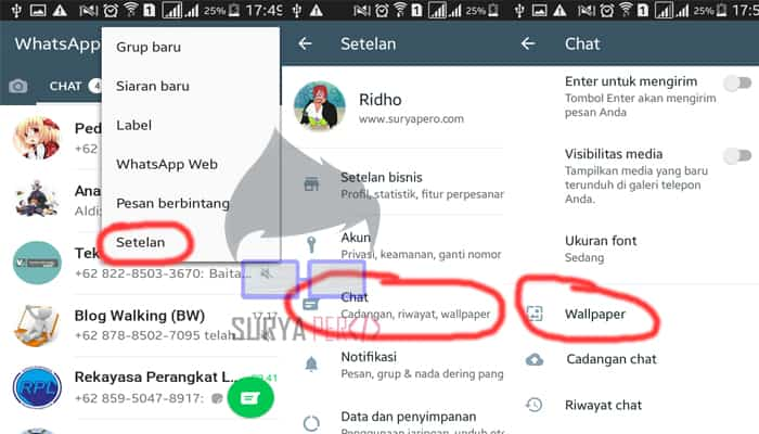 Inilah Cara Mengganti Wallpaper Whatsapp Dengan Foto Sendiri