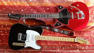 Guitares Reverend Eastsider (Signature Pete Anderson) et Spacehawk (modèle signature Reeves Gabrels)