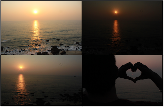 Goa, sunset beach at goa