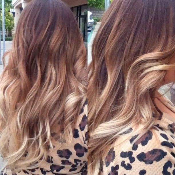 Curly Ombre Hairstyle with Blonde Ends