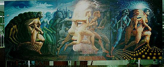 A Evolução do Homem - Octavio Ocampo e Suas Pinturas Cheias de Ilusões