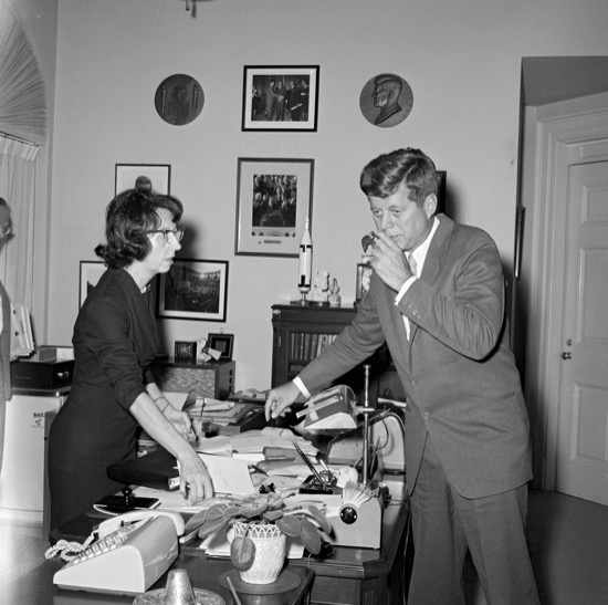 JFK y Evelyn Lincoln