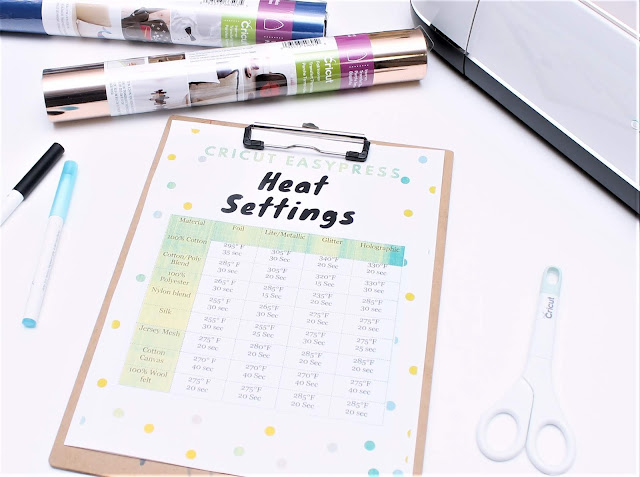 cricut easy press heat settings