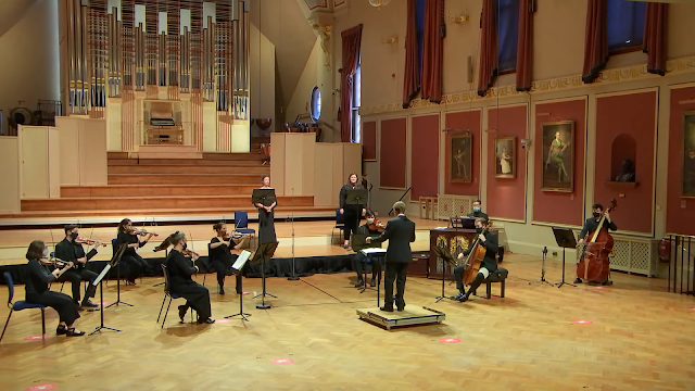 Bach: Tilge, Höchster, meine Sünden, BWV 1083 - Academy Baroque Soloists, Eamonn Dougan - Royal Academy of Music (image from live-stream)