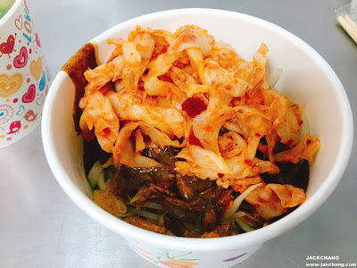 麻醬麵加台式泡菜