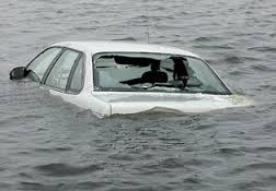 image of car in water