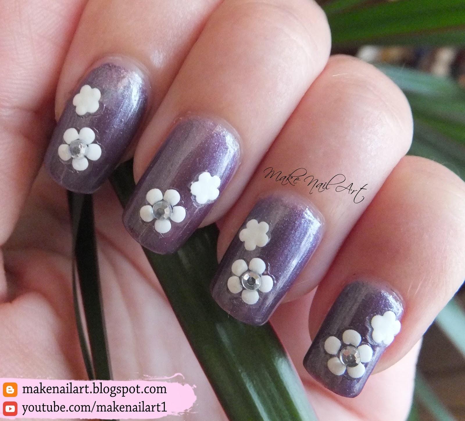 Make Nail Art Flower Decals Nail Art Design 31dc2016
