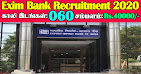 Exim Bank Recruitment 2020 60 MT Posts