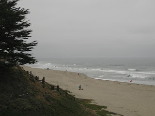Gray sky and waves at Manresa State Beach