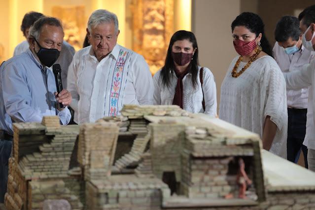 Presidente inaugura Pabellón de la Reina Roja en Palenque, Chiapas