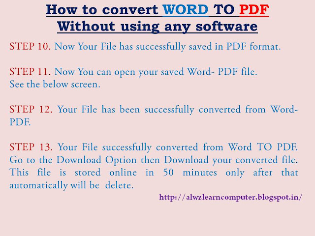 convert word to pdf i lovepdf