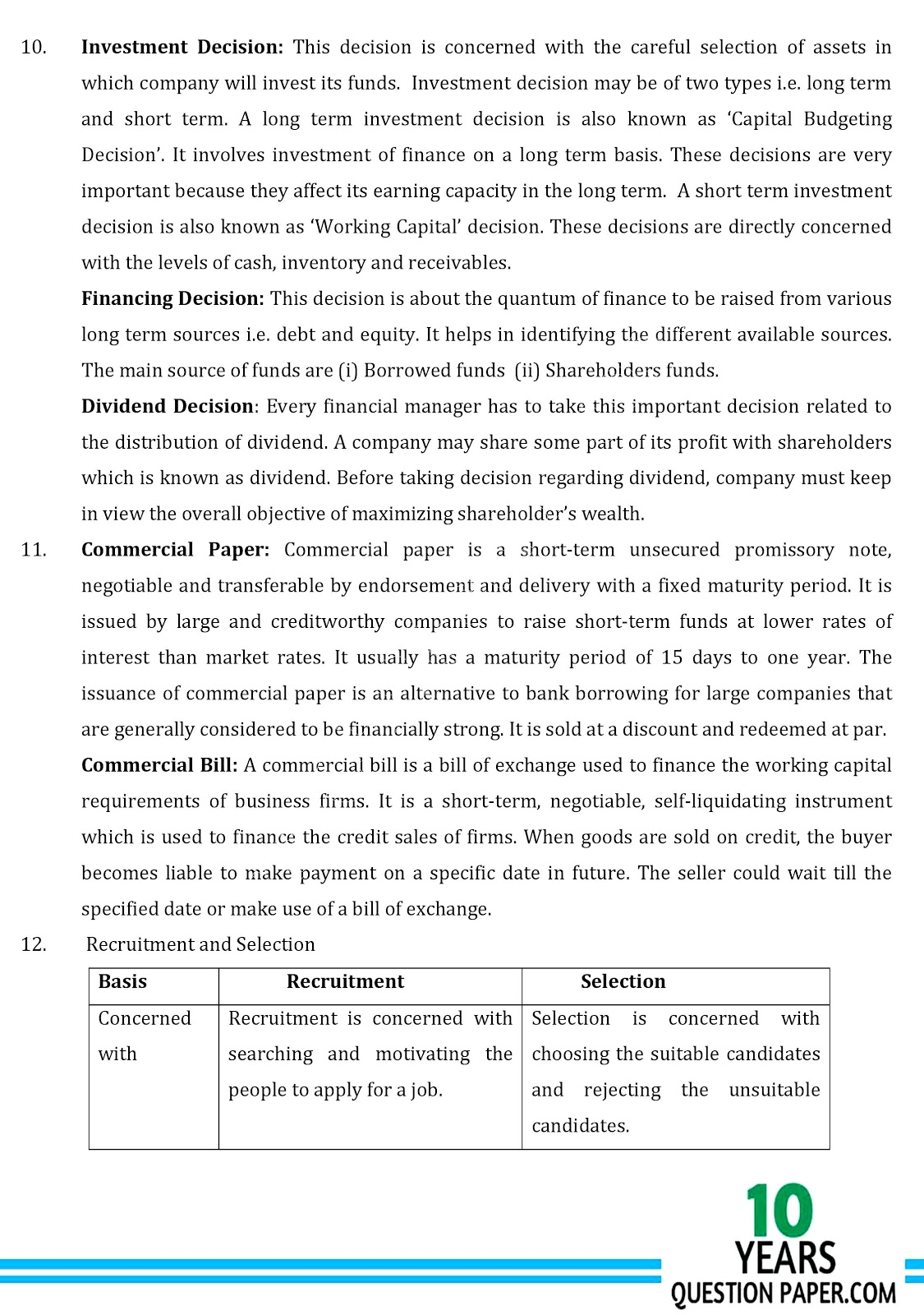 cbse class 12th 2018  Business Solved Sample Paper