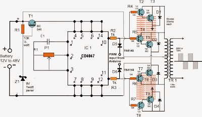 Easy Electronic Circuits: How To Build a Sinewave Inverter Circuit