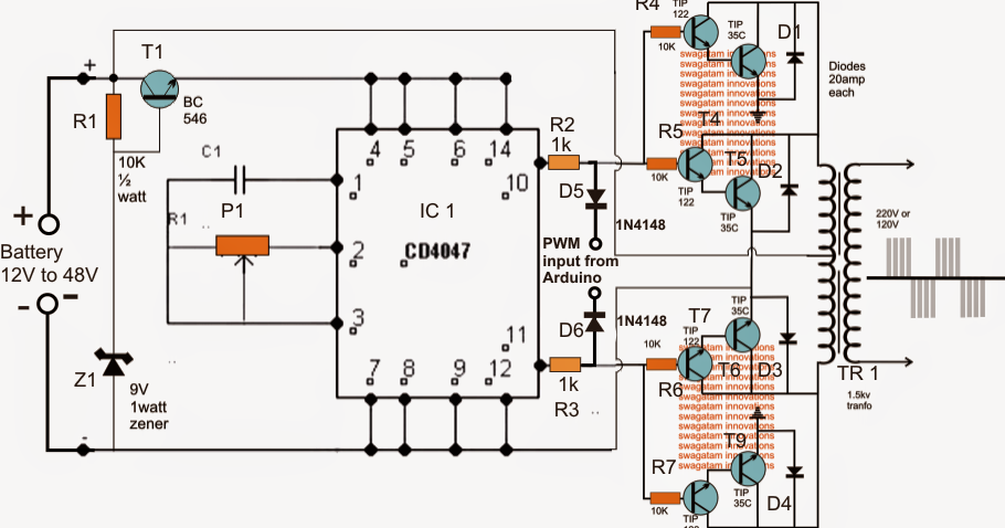 Interfacing Arduino PWM with any Inverter    Circuit