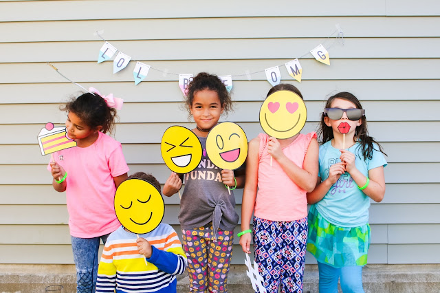 emoji party photo booth props