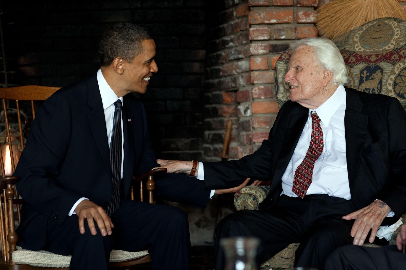 Billy Graham e Barack Obama