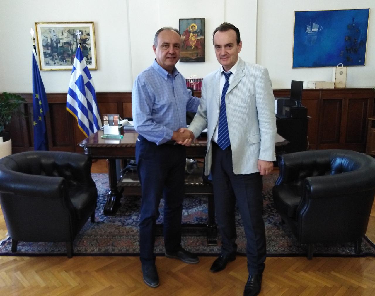 Επίσκεψη του Περιφερειακού Διευθυντή στο Υπουργείο Εσωτερικών    (τομέας Μακεδονίας-Θράκης)