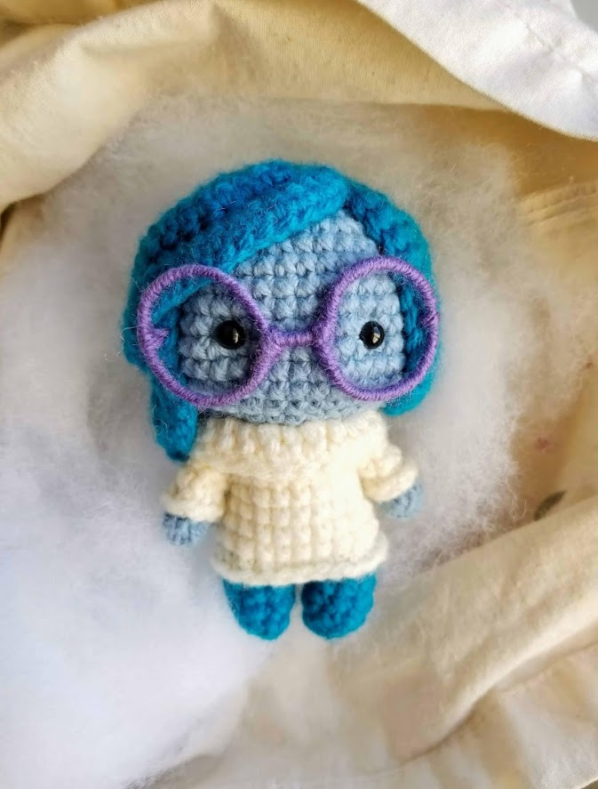 Disney Pixar Inside Out Sadness Free Amigurumi Crochet Pattern