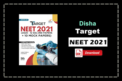 [PDF] Disha Target NEET 2021 (2020 - 12 Solved Papers + 10 Mock Papers) | Download
