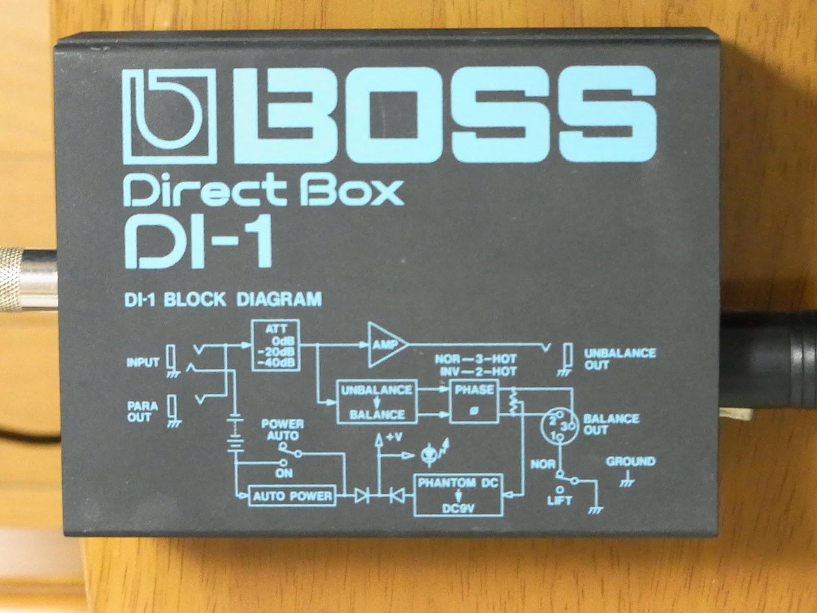私は疑り深いので、「DIによって音が変わる」ということには半信半疑だったのですが、ひょんなことからBOSSのDIを手に入れたので、どんなもんなのか試してみました。