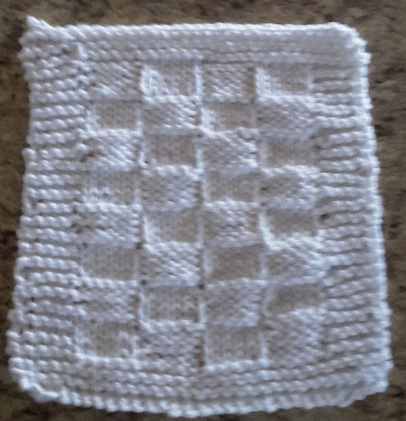 Daisies and Buttercups: Free Knitted Dishcloth Patterns
