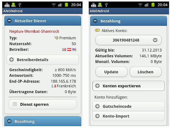 ANONdroid v  00 00 008 : JonDonym proxy client for Android