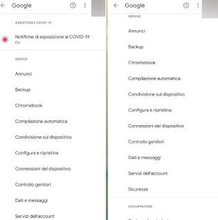 Opzioni Google